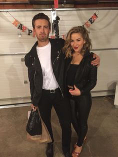 Danny and Sandy from Greece for Halloween. T Birds DIY costume