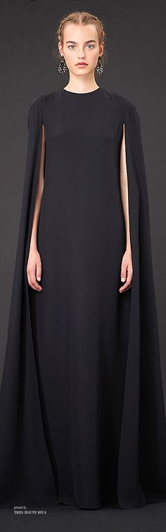 There is something very dramatic about this dress. Valentino Resort 2015