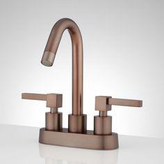Karna Centerset Bathroom Faucet - No Overflow - Oil Rubbed Bronze