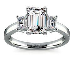 Emerald Emerald Diamond Engagement Ring in Platinum  http://www.brilliance.com/engagement-rings/emerald-diamond-ring-platinum