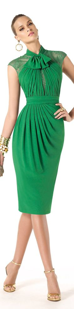 Pronovias green dress