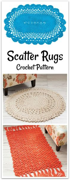 3 lacy rugs to enhance that special area in your home. PDF download available. #ad #affiliate #crochet #pattern