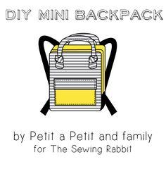 DIY Mini Backpack Video - à transformer comme boîte à dîner?