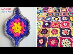 Granny linterna mystica tejido a crochet mystical lantern Granny Square Häkelanleitung, Granny Square Crochet Pattern, Crochet Blocks, Crochet Granny, Crochet Motif, Crochet Designs, Crochet Stitches, Crochet Patterns, Granny Squares