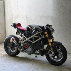 """A Ducati 1098 that turned into a modern cafe racer.  """""""