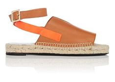 PIERRE HARDY Rally Leather Espadrille Sandals. #pierrehardy #shoes #