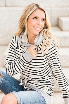 Double Hooded Sweatshirt – Mindy Mae's Market