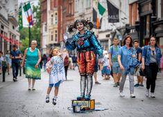 St Patrick's Day in Dublin, St. Mime Artist, Grafton Street, St Patricks Day, Dublin, Highlights, Saints, Culture, Hair Highlights, Highlight