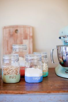 dipped jars for the kitchen