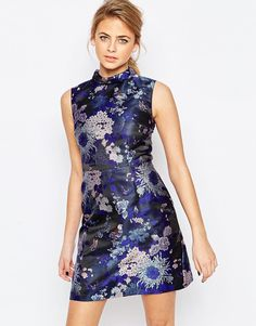 Image 1 of Oasis Butterfly Jacquard Shift