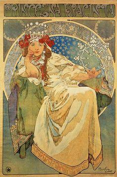 Mucha print Alphonse Mucha, Vintage World Maps, Painting, Art, Kunst, Gcse Art, Sanat