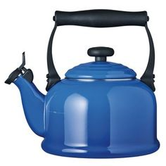 Le Creuset 92000820 Traditional Kettle with Whistle - Marseille Blue - 2.1L: Image 1