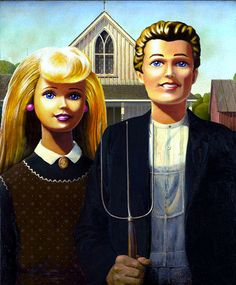 Barbieland Gothic   36 Pop Cultural Reinventions Of The American Gothic Painting