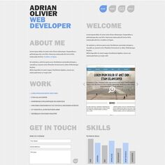 Wo Page Developer Resume Template  Web Developer Resume Template
