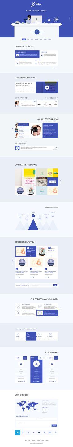 Xpose website design