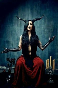'As Above - So Below' - Baphomet. Alchemical symbol for the unification of the elements. - Pinned by The Mystic's Emporium on Etsy Dark Gothic, Gothic Art, Gothic Girls, Dark Beauty, Gothic Beauty, Foto Poster, Baphomet, Maquillage Halloween, Dark Photography