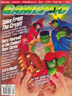 Looking for information on GamePro Issue 15 from October Read more about this magazine at Retromags! Classic Video Games, Retro Video Games, Retro Games, Gaming Magazines, Video Game Magazines, Turbografx 16, Nintendo Sega, Dragon's Lair, My Magazine