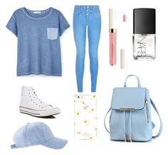"""blue"" by auliaarist on Polyvore featuring MANGO, New Look, Converse, NARS Cosmetics and Kate Spade"