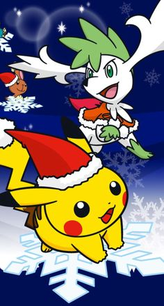 ポケモンのクリスマス iPhone壁紙 Wallpaper Backgrounds iPhone6/6S and Plus Pocket  Monster Christmas