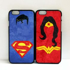 Wonder woman and Superman Couple Cases for iphone 6/6S plus case | lifen00 - on ArtFire