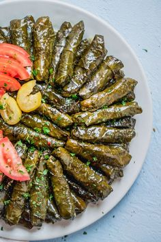 Stuffed Grape Leaves These Vegetarian Stuffed Grape Leaves are a Mediterranean classic recipe made with short grain rice parsley tomatoes and onions - my favorite appetizer Easy Appetizers Healthy Appetizers Healthy Snacks Healthy Appetizers, Easy Healthy Dinners, Easy Healthy Recipes, Healthy Snacks, Mini Appetizers, Dinner Healthy, Vegetarian Recipes, Lebanese Recipes, Greek Recipes