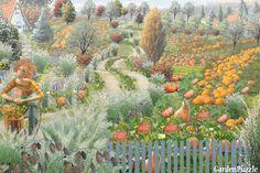 Pejzaż dyniowy - GardenPuzzle - projektowanie ogrodów w przeglądarce