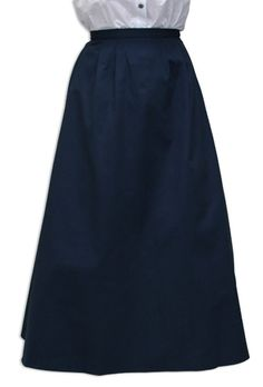 Cotton Twill Walking Skirt - Navy [002034W]