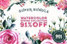 91% OFF Spring Super Bundle by Spasibenko Art on @creativemarket