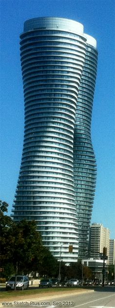 The Absolute Towers, Mississauga, Canada... Left-Front view.