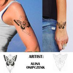 geometric butterfly tattoo - Google Search