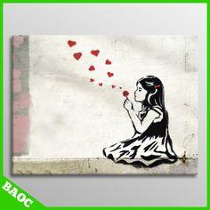 He Loves Me New Banksy Modern Art Graffiti Canvas Print   eBay