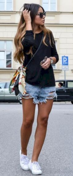 Awesome 46 Cute Cut Off Short Outfits to Wear this Summer