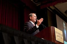 """BOEHNER WANTS OBAMACARE ON THE DEFICIT CHOPPING BLOCK  --   ...""""We can't afford it, and we can't afford to leave it intact,"""" Boehner wrote of Obama's signature healthcare initiative in the Cincinnati Enquirer. """"That's why I've been clear that the law has to stay on the table as both parties discuss ways to solve our nation's massive debt challenge."""" cont'd...."""