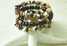 EyeCathing Neutral Stones and Butterfly by JustforJoyCreations, $18.00