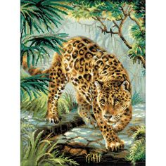 """Owner Of The Jungle Counted Cross Stitch Kit-11.75""""X15.75"""" 14 Count"""