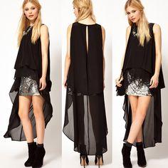 Blusas y camisas AliExpress.com en gasa diseño cola de pato