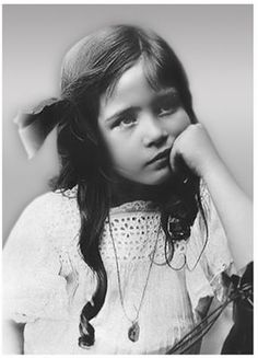 Simone de Beauvoir as a child.