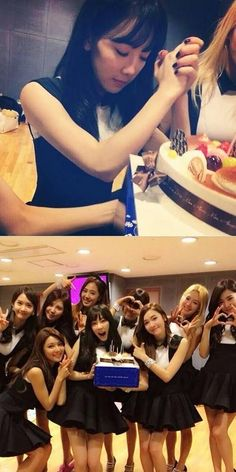 Girls' Generation's Taeyeon takes pictures with her birthday cake | http://www.allkpop.com/article/2014/03/girls-generations-taeyeon-takes-pictures-with-her-birthday-cake