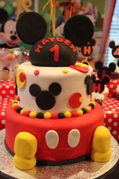 Mickey Mouse Clubhouse Birthday Party--cake; Happy Birthday Hayden!