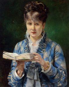 The Reader by Eduardo Garrido (1856-1906).