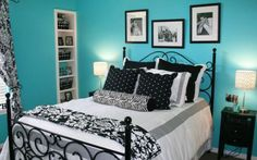 Blue bedroom ideas for teenage girls bedroom teen girl bedroom Teen Bedroom Colors, Girls Bedroom, Master Bedroom, Summer Bedroom, Diy Bedroom, Bedroom Themes, Bedroom Modern, Bedroom Romantic, Young Woman Bedroom