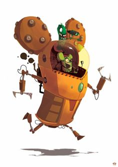 Roborabtus MRK 5 - the Rabtus Exchange Program by Ido Yehimovitz, via Behance