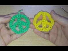 ♥ Tutorial: símbolo de la paz de gomitas (sin telar) ♥