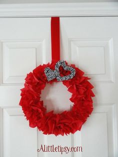 Valentine Wreath or 4th of July, Christmas or just because you like red!