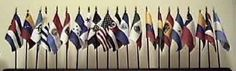 Hispanic Flag Set - 21 Flags on 21 one-hole stands (Not the image on display) .. OM