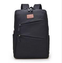 Casual Canvas Cool Men's Simple Design Computer Notebook Backpacks School Bag Business Laptop Backpack Travel Bag