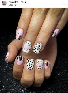 Cute Gel Nails, Shellac Nails, Dope Nails, Fancy Nails, Gorgeous Nails, Pretty Nails, Hair And Nails, My Nails, Short Nails Art