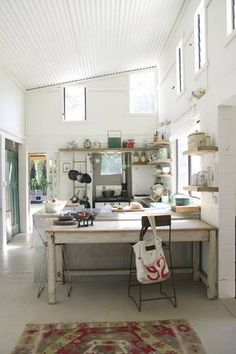 pretty, light kitchen