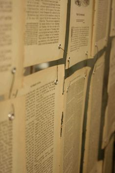 Book paper walls. See post for more pictures. The Adventures of Elizabeth