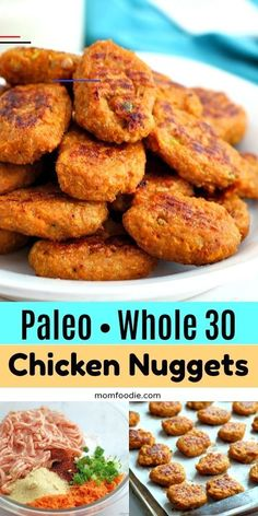 Paleo Whole 30 Chicken Nuggets with Sweet Potato . - Recipes from Mom Foodie - Paleo Whole 30 Chicken Nuggets with Sweet Potato . - Recipes from Mom Foodie - Whole Foods, Whole 30 Diet, Paleo Whole 30, Whole Food Recipes, Diet Recipes, Healthy Recipes, Paleo Recipes For Kids, Paleo Recipes Dinner Chicken, Whole 30 Chicken Recipes